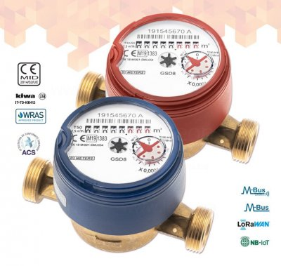 B METERS GSD8-I R100 1/2 лічильник гарячої води 110мм