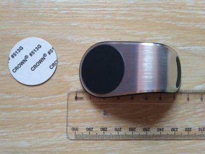 Магнитный держатель Серебро для телефона в машине на решетку дефлектора