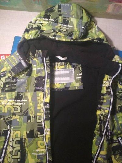 демисезонная куртка Lenne на мальчика размер 110+6 см