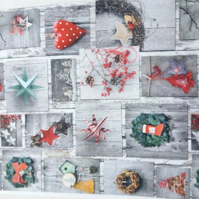 Ткани с новогодними рисунками