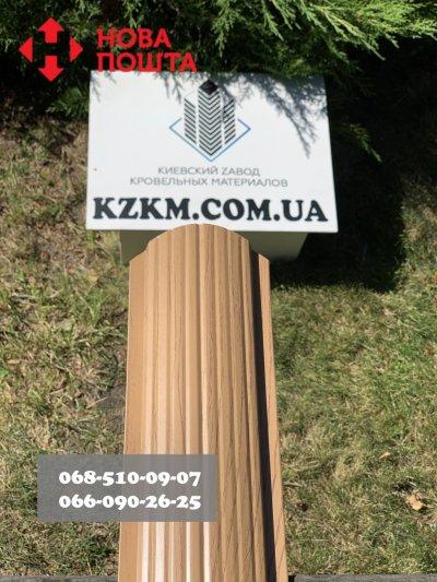 Штакетник усиленный, Евроштакетник из профнастила, металлический под дерево сосна