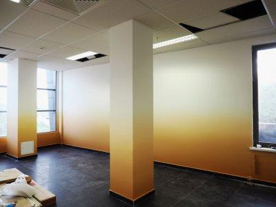 Градиентная покраска стен и потолков в 2-3 цвета, покраска с эффектом Омбре