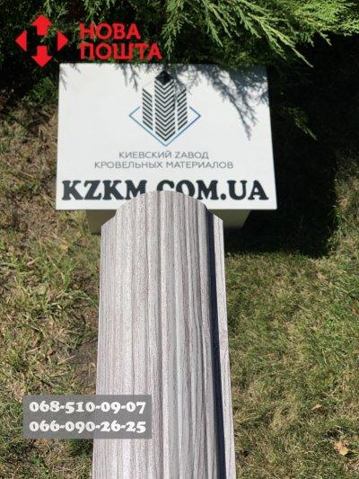 Металлический Евроштакетник из профнастила, Усиленный штакетник, под Белое дерево.