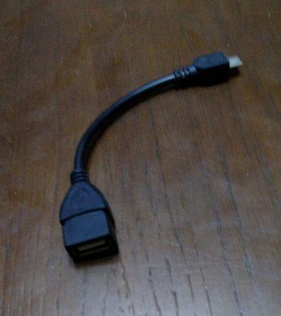 Кабель переходник OTG micro-USB на USB 2.0