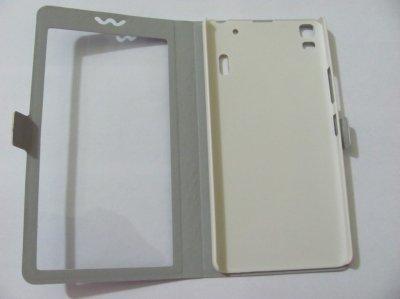 Модный чехол-книжка с окном Lenovo K3 Note