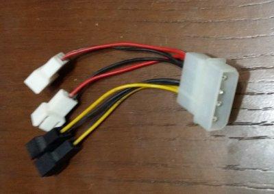 Переходник Molex 4pin (папа) на 4 вентилятора