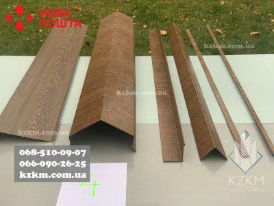 Доборные гибочные изделия под дерево 3Д « Золотой Дуб » планки, уголки, отливы, пешка