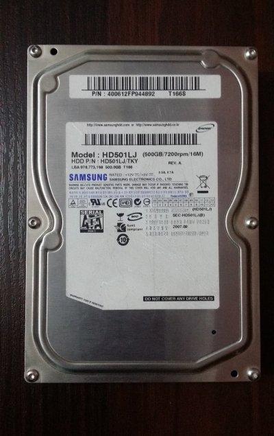 """Винчестер 3,5"""" для системника 500Гб Samsung HD500LJ"""