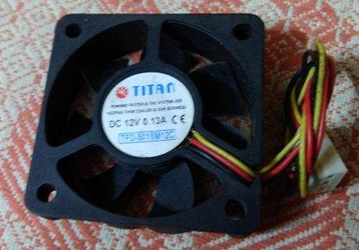 12в 0.13а 3-pin 50см вентилятор Titan TFD-5015M12C