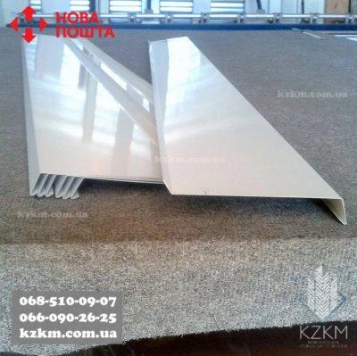 Оконный отлив белого цвета рал 9003, отливы металлические под заказ, подоконник