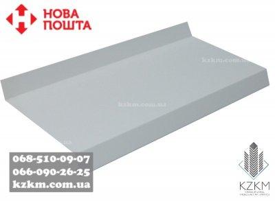 Отлив белый рал 9003, металлический подоконник белого цвета Ral 9003, оконный на заказ