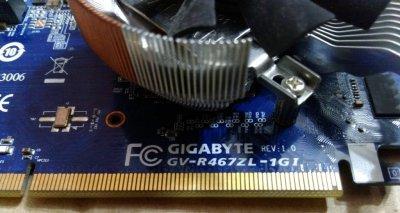 Исправная видеокарта Gigabyte PCI-Ex Radeon HD4670 1024MB