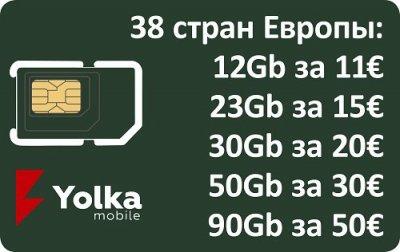 SIM 3g 4g 5g мобільний інтернет Європейські країни придбати Київ