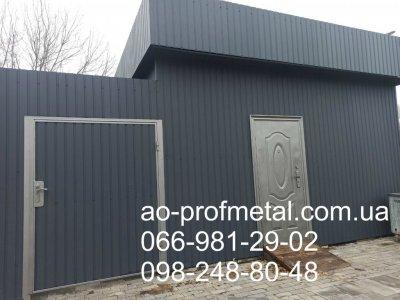 Профнастил На Забор Серый Графит Матовый RAL 7024