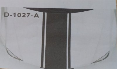 Наклейка на авто на капот Три полосы Белая