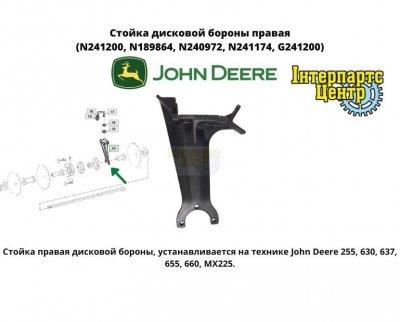 Стойка дисковой бороны правая (N241200, N189864, N240972, N241174, G241200)