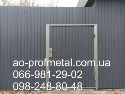 Профнастил На Забор ПС-10 Серый Графит РАЛ 7024 Матовий.