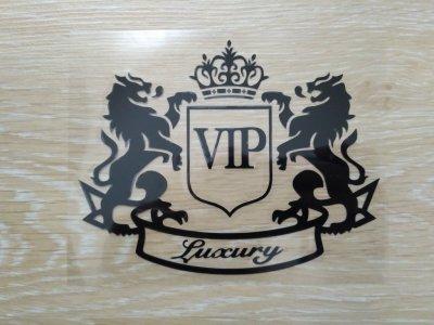 Наклейка на авто VIP Чёрная Тюнинг авто