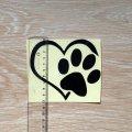 Наклейка на авто Собачье сердце Чёрная
