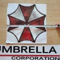 Наклейка на авто Umbrella corporation Чёрная .умбрелла