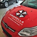 Наклейка на авто Umbrella corporation .умбрелла