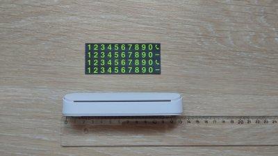 Табличка с Вашим номером телефоном под лобовое стекло в авто Белая