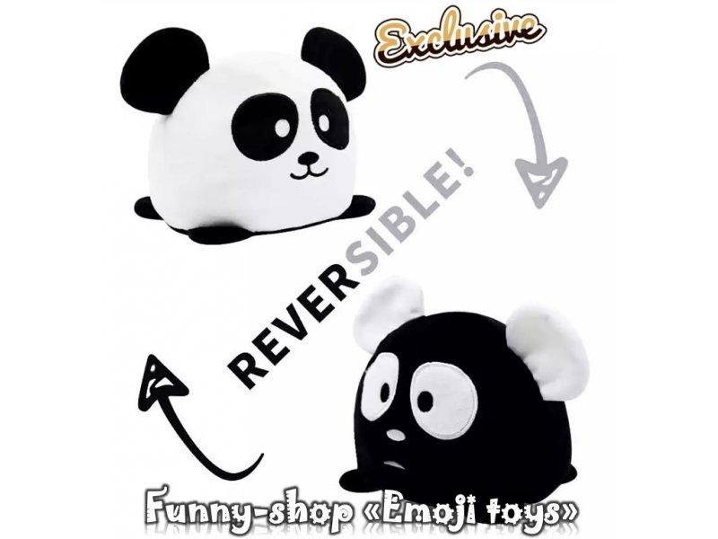 Крутая двухсторонняя плюшевая панда с разными эмоциями
