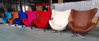Кресло Эгг (Egg), ткань, регулируется, цвет красный, розовый, синий