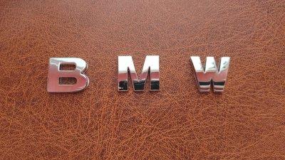 Буквы на кузов авто металлические BMW, бмв, хромированные